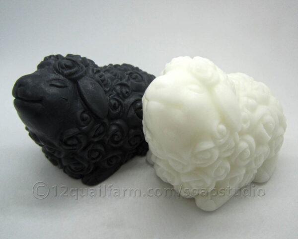 Pair of Sheep Soaps (Black & White)