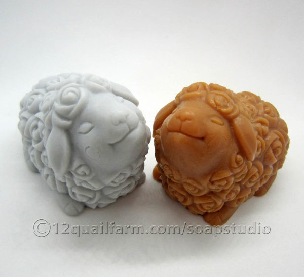 Pair of Sheep Soaps (Grey & Hazel)