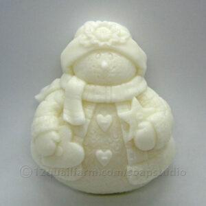 Snowman Soap (White)