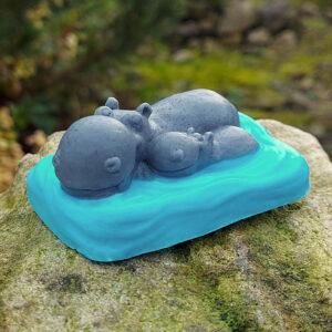 Hippo Soap (Blue)